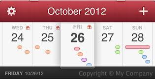 Fantastical Weekly Calendar